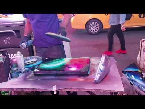 New York spray paint artist