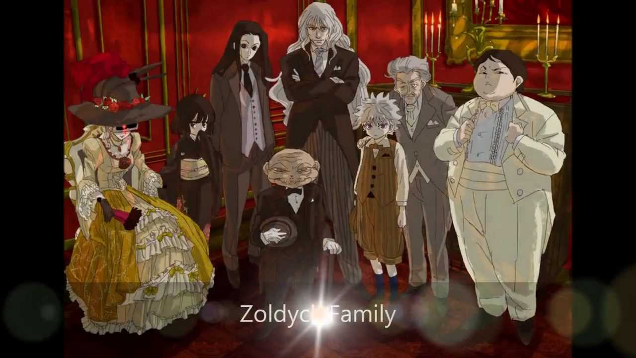 hunter x hunter zoldyck family all members youtube