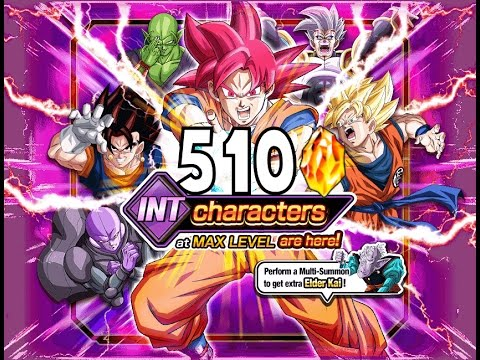 510 STONES SUMMON! INT Max Level Banner Summons DBZ Dokkan Battle