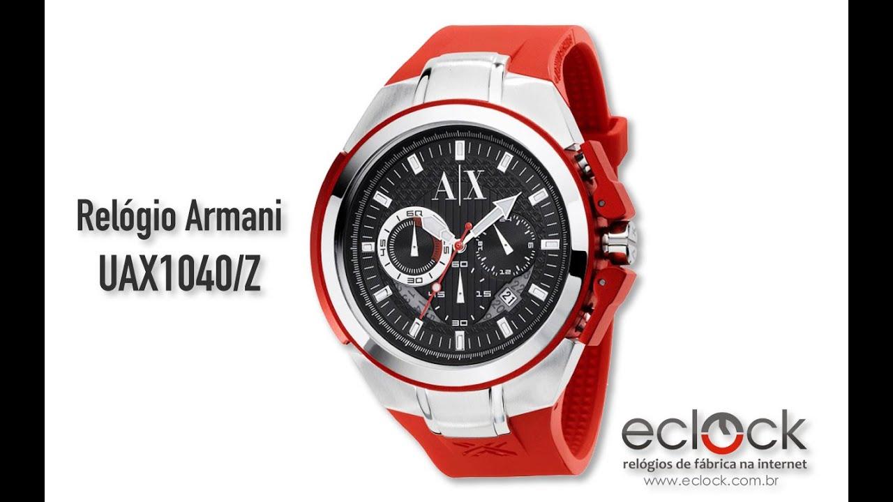 d69235a91cc Relógio Armani Masculino UAX1040 Z - Eclock - YouTube