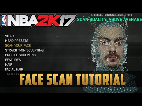 NBA2K17 Face Scan Tutorial - How to do it right (and wrong)
