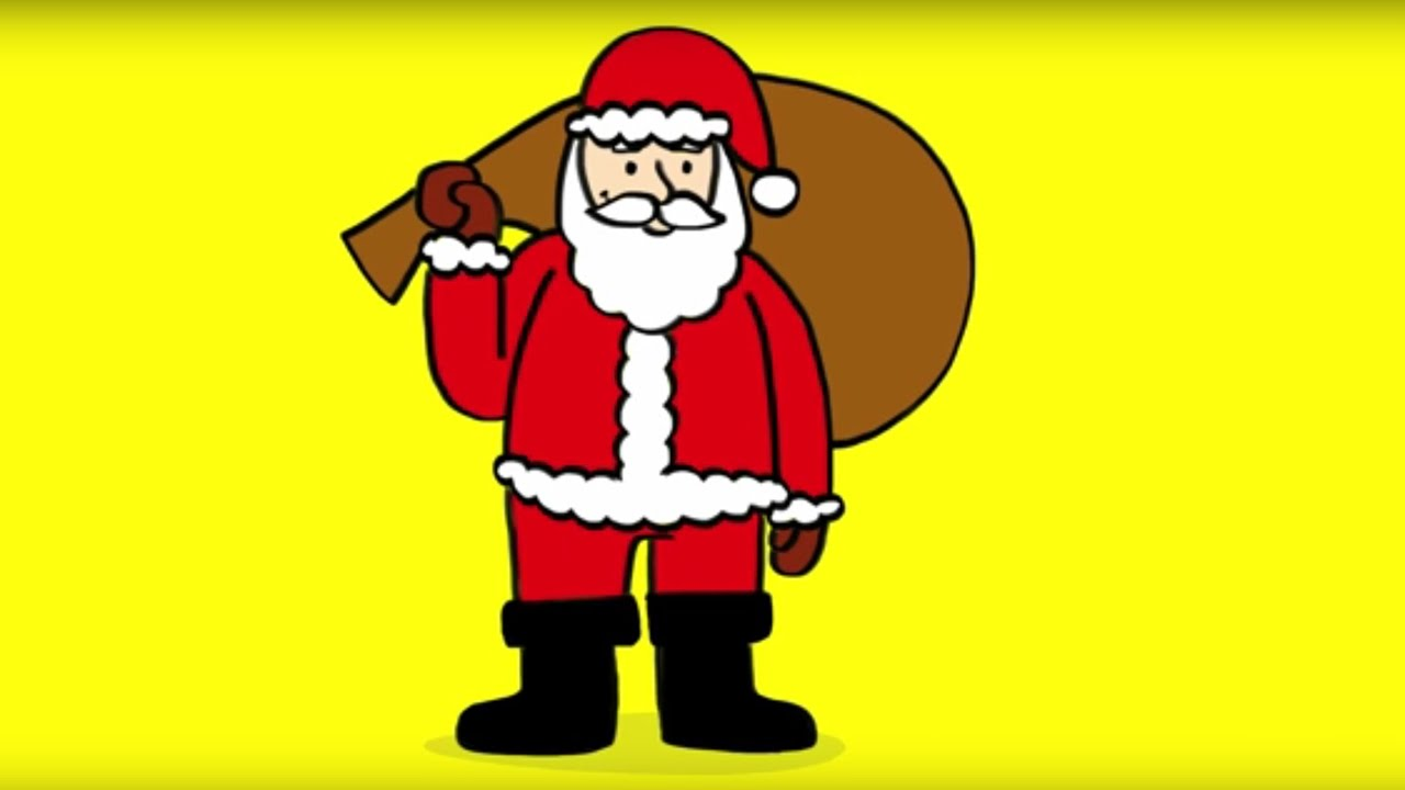 Apprendre dessiner un p re no l how to draw a santa - Dessin de noel facile a faire ...