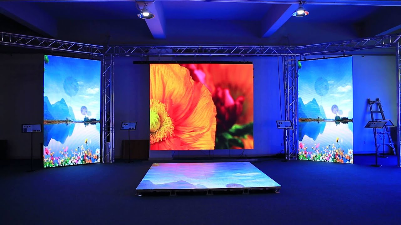 Showroom On Led Screen P3 9 P5 95 And Led Video Dance