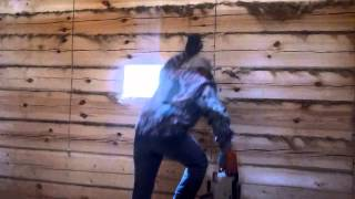 видео Пропил проёма под окно