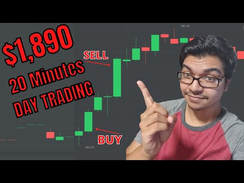 How to day trade stock options? | $1,890 in 20 minutes Options Trading