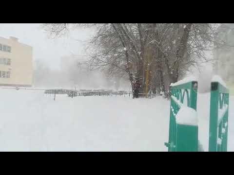Зима в Аксае 2019 Снег идёт