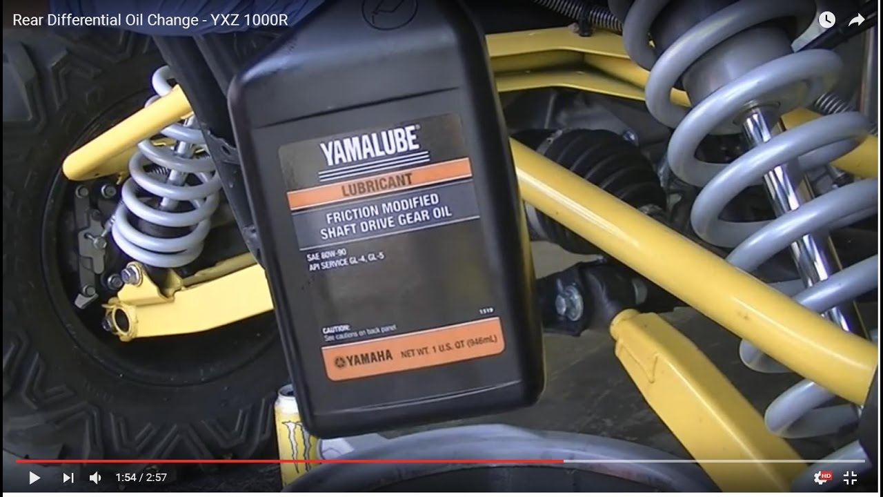 How To Change Transmission Oil >> Rear Differential Oil Change - YXZ 1000R - YouTube