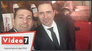 شاهد.. رد فعل ظافر العابدين مع الجمهور التونسى فى أيام قرطاج السينمائية