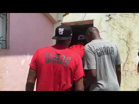 Charged Black Stars In Jama, Singing And Dancing As They Arrive In Stadium For Sao Tome Clash