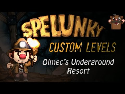 Spelunky Custom Levels with Baer! - Olmec's Underground Resort