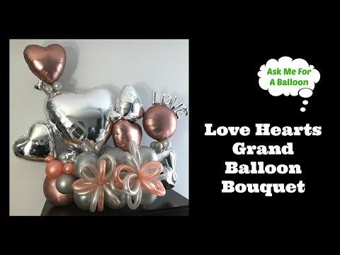 Love Hearts Grand Balloon Bouquet