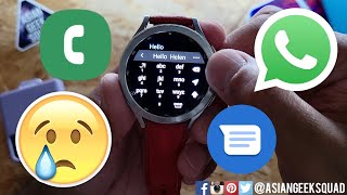 Phone Calls, SMS and WhatsApp with the Samsung Galaxy Watch4 Classic screenshot 3