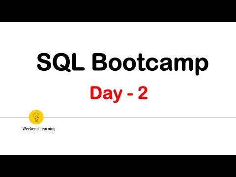 SQL Bootcamp Day2