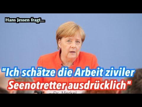 Kanzlerin Merkel lobt deutsche Seenotretter auf dem Mittelmeer (Hans Jessen)