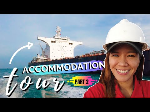 ACCOMMODATION IN A CARGO SHIP - PART 2 | SEAWOMAN'S TOUR | Jy's Journal
