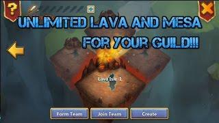 Unlimited Lava and Mesa for your Guild Glitch   - Castle Clash