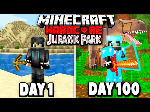 I Survived 100 Days in Hardcore Jurassic Park Minecraft.. He