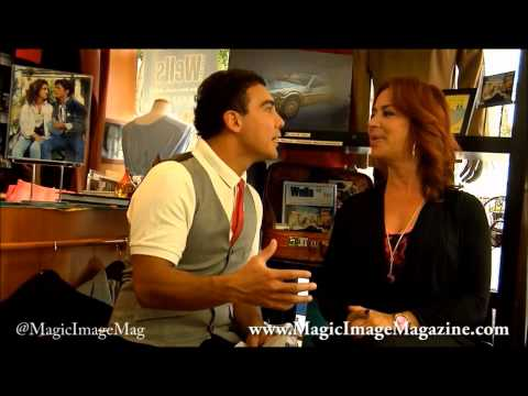 Tony Garza interviewing  Claudia Wells from Back to the future