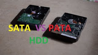 Which one is PATA hard drive and which one is SATA hard drive