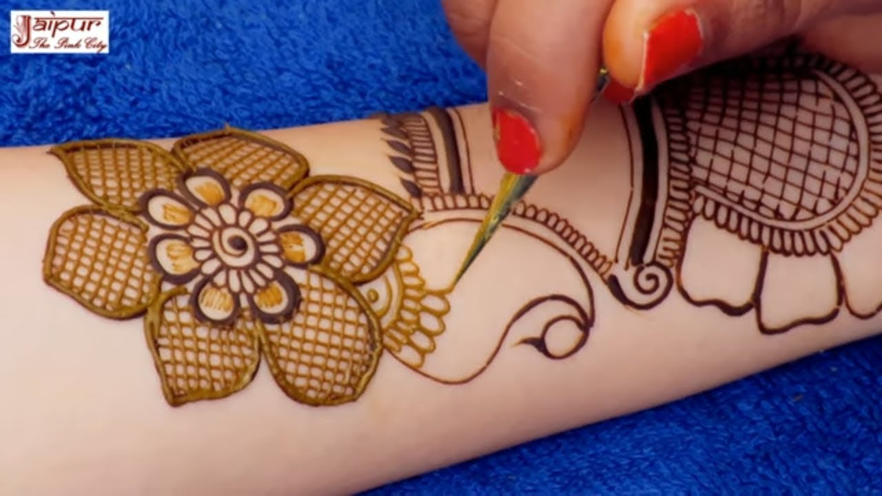 Image result for Eid Special Easy Floral Mehndi Design for Hands | New Mehndi Design by Sonia Goyal #289 jaipurthepinkcity 527K views