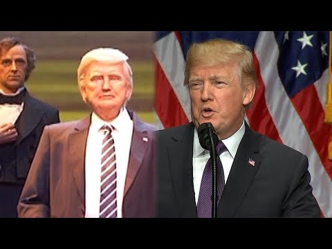 See President Trump as a Robot at Disney World's Hall of Presidents Attraction