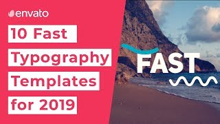 10 Best Fast Typography Templates  2019