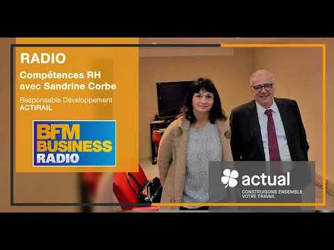 Sandrine Corbe, Responsable Développement ACTIRAIL invitée de Compétences RH sur BFM le 14/10/19