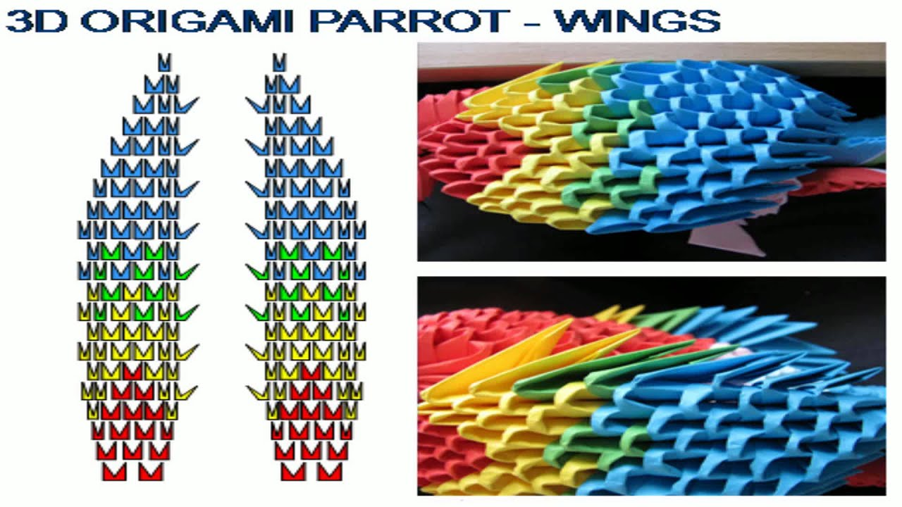 3d origami parrot tutorial youtube reviewsmspy