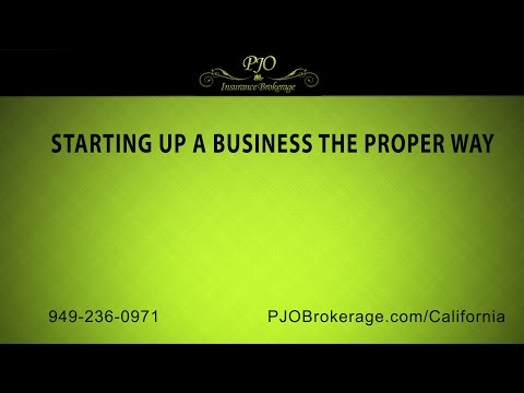 Starting Up A Business The Proper Way | PJO Insurance Brokerage