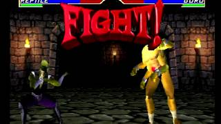 Mortal Kombat 4 (PlayStation) Arcade as Reptile