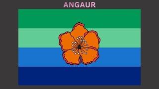 Flags of states of Palau - Vlajky států Palau