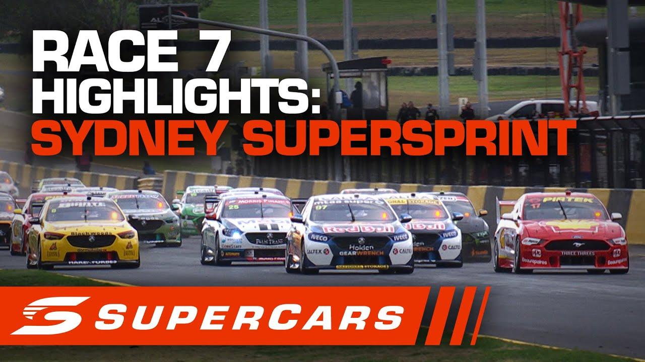 Highlights Race 7 Sydney Supersprint Supercars 2020 Youtube