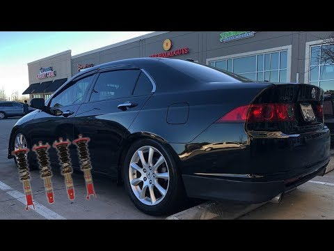 How to Adjust Function Form Type 1 Coilovers on Tsx & CliffSide Media Car Meet
