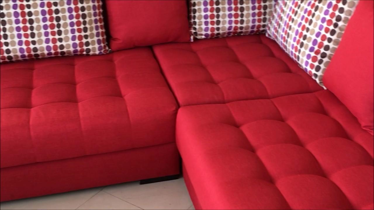 canapé angela rouge vidéo
