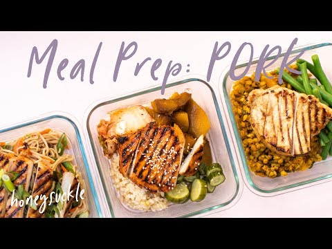 HEALTHY Meal Prep Ideas With Pork | HONEYSUCKLE