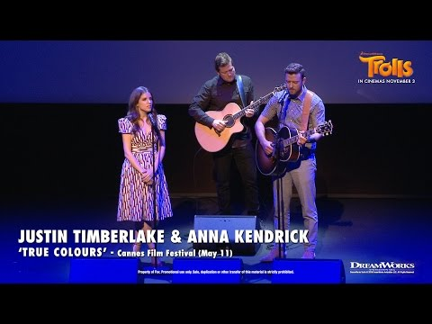 """Justin Timberlake And Anna Kendrick - """"True Colours"""" LIVE At Cannes 2016   DreamWorks TROLLS"""