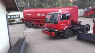 Fuel truck sharp U-turn