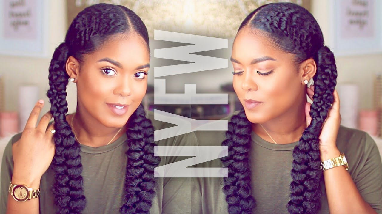 Braided Updo Styles For Natural Hair: Fashion Week Inspired Braided Hairstyle