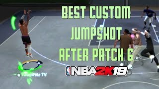 NEW BEST CUSTOM JUMPSHOT IN NBA 2K19 AFTER PATCH 6 | SHOOT LIKE A PURE SHARP ON ANY BUILD