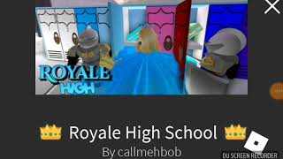 Comment ouvrir le casier de l'école secondaire Royale par Mobile! -ROBLOX