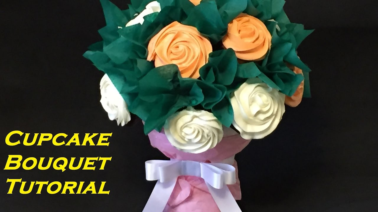 How To Make A Cupcake Bouquet Youtube