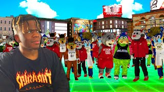 I HOSTED THE FIRST MASCOT ONLY PARK EVENT IN NBA 2K20... nba 2k20 my park