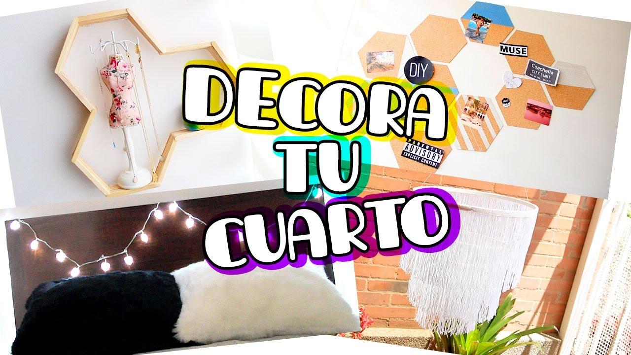 4 ideas muy lindas y faciles para decorar tu cuarto por for Ideas para decorar tu cuarto manualidades