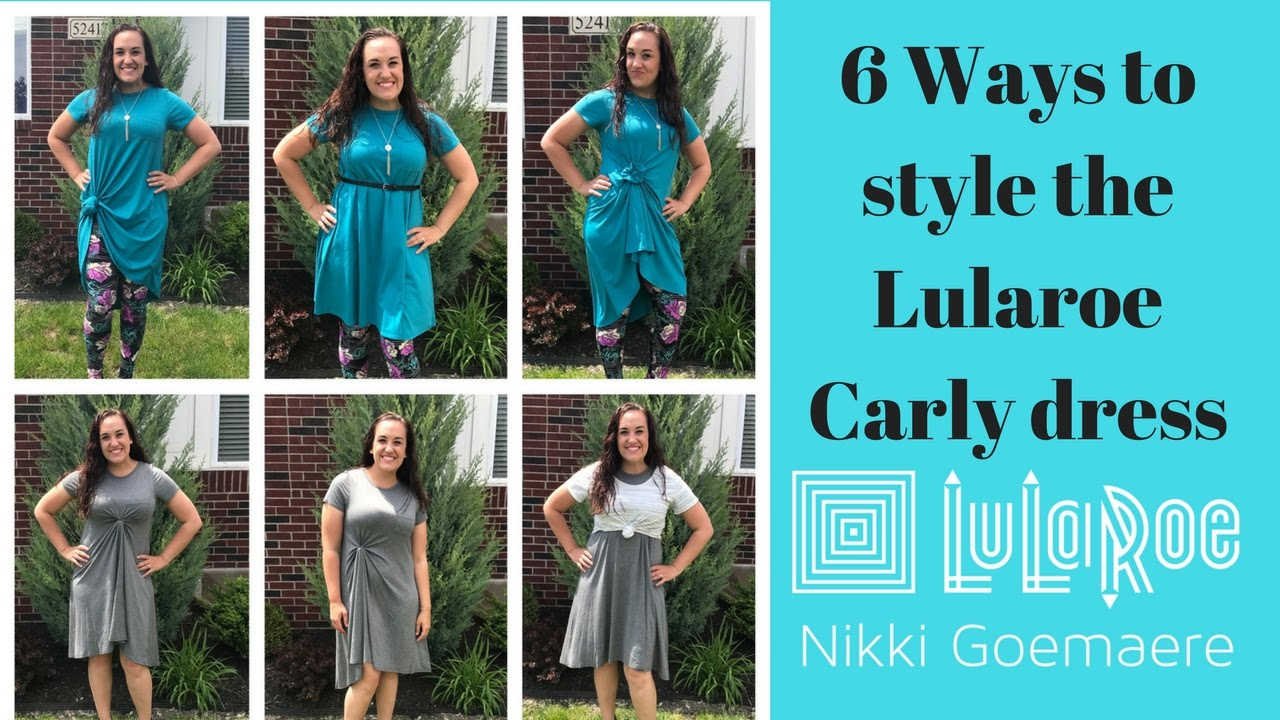 How to style your Lularoe Carly dress-Including the flower knot!