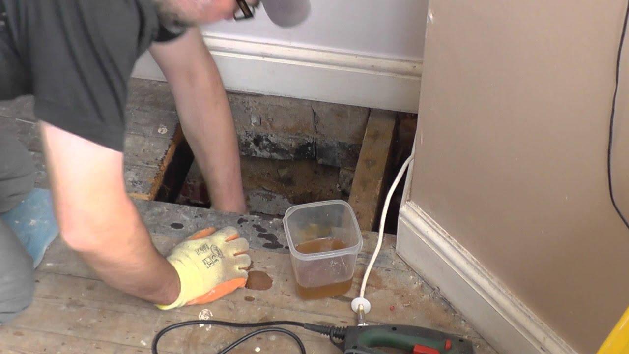 DIY: Repair timber floor Part 1 - YouTube