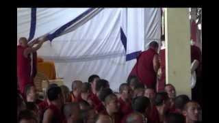 Lama Zopa Rinpoche and Oracle Gyalchen Karma Trinley, SERA.mp4