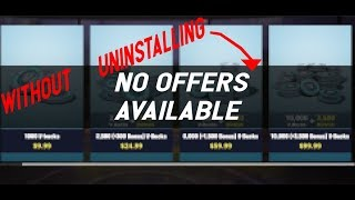 How to fix fortnite in game store offers unavailable without reinstalling