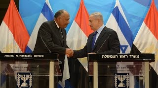 مكتب رئيس وزراء إسرائيل ينشر فيديو لجلسة مباحثات نتنياهو وسامح شكرى بالقدس