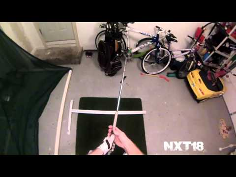 Golf Swing Plane with Plane Sight Training Device | NXT18