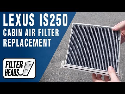 How to Replace Cabin Air Filter 2014 Lexus IS250